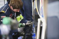 Volkswagen Motorsport team members at work