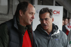 Gerhard Berger, and Dr. Mario Theissen, Former Head BMW Motorsport