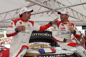 Winners Sébastien Loeb and Daniel Elena, Citroën DS3 WRC, Citroën Total Abu Dhabi World Rally Team