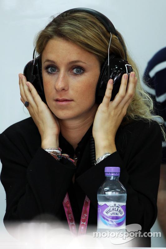 The girlfriend of Jules Bianchi, Marussia F1 Team