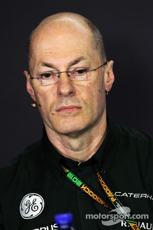Mark Smith, Caterham F1 Team Diretor Técnico na coletiva da FIA