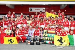 Ferrari celebrate a 1-3 finish for Fernando Alonso, Ferrari and Felipe Massa, Ferrari