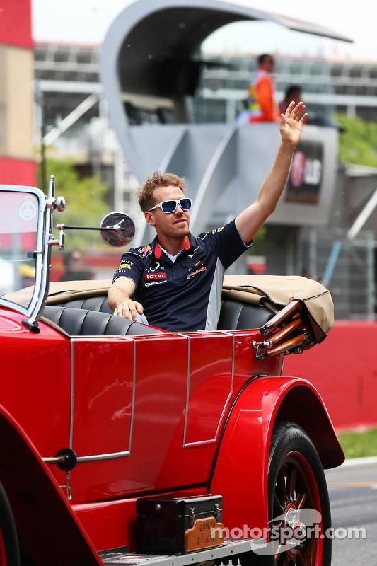 Sebastian Vettel, Red Bull Racing no desfile de pilotos