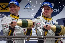 Podium: Andrea Piccini and Yelmer Buurman spray champagne