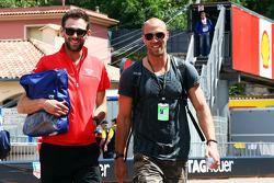 (L to R): Sam Village, Marussia F1 Team with Daniel Schloesser, Mercedes AMG F1 Physio