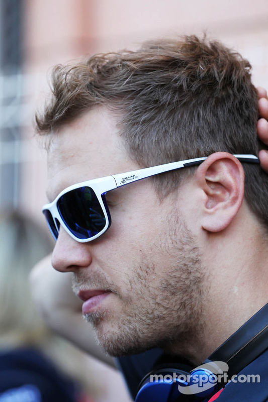 Sebastian Vettel, Red Bull Racing no desfile de pilotos