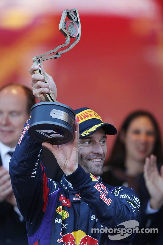 Mark Webber, Red Bull Racing comemora sua terceira posição no pódio