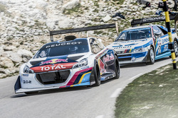 Sébastien Loeb tests the Peugeot 208 T16 Pikes Peak on the Mont Ventoux