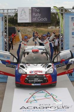 WRC2 winners Robert Kubica and Maciek Baran, Citroën DS3 WRC