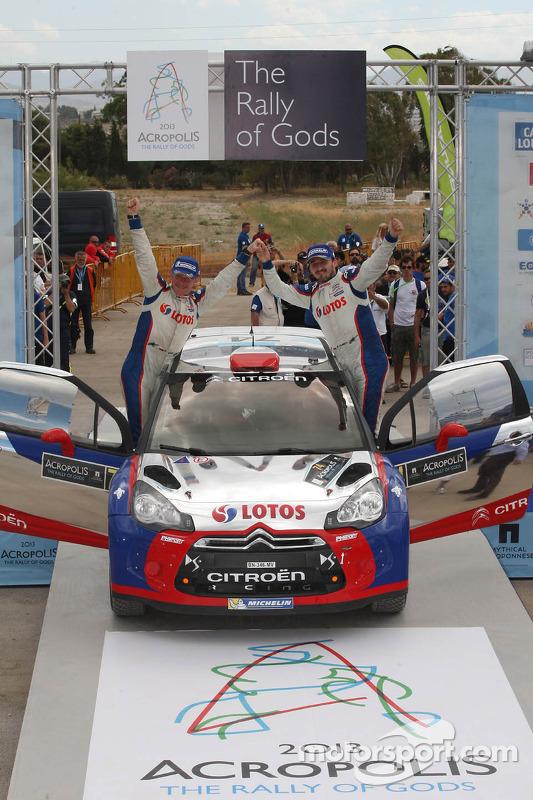 Robert Kubica, vencedor do WRC2 e Maciek Baran, Citroën DS3 WRC