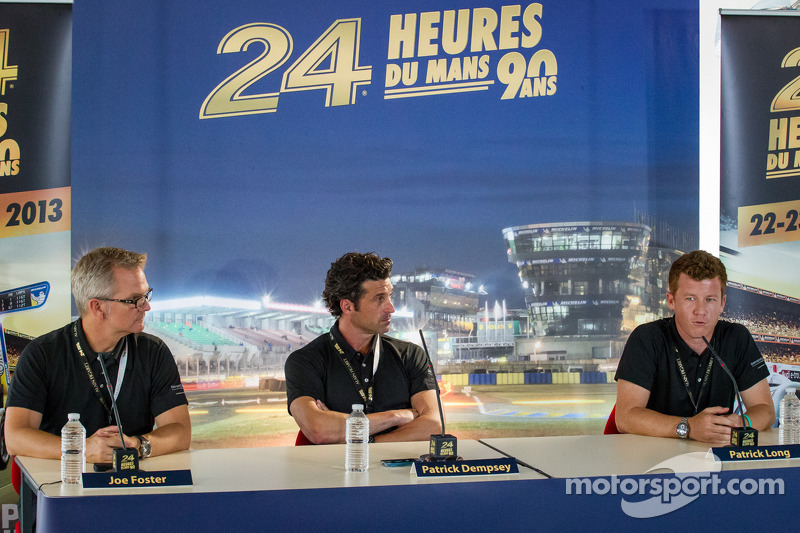 Dempsey Racing press conferece: Joe Foster, Patrick Dempsey and Patrick Long