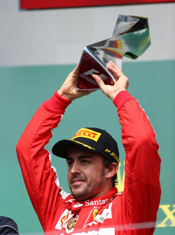 2nd place for Fernando Alonso, Ferrari F138