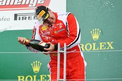 Trofeo Pirelli podium: third place Emmanuel Anassis