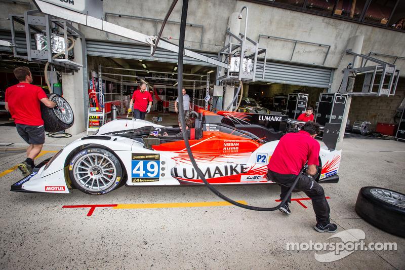 Pit stop practice for #49 Pecom Racing Oreca 03-Nissan