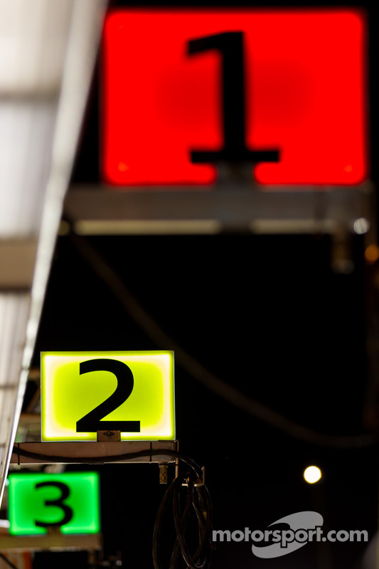 Audi; números de pit box em La Sarthe