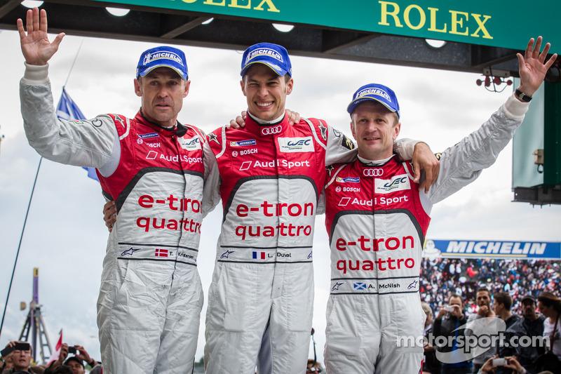 Tom Kristensen, Allan McNish et Loïc Duval
