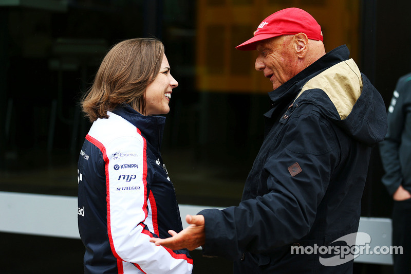 Claire Williams, Adjunct-teambaas Williams met Niki Lauda, Mercedes Non-Executive Chairman
