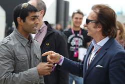 Karun Chandhok, with Emerson Fittipaldi