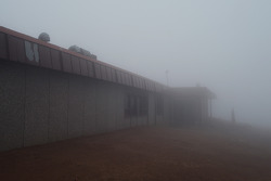 Fog takes over the summit