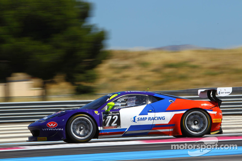 #72 SMP Racing: Sergey Zlobin, Boris Rotenberg, Maurizio Mediani, Ferrari 458 Italia
