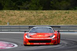 #111 Kessel Racing: Marco Zanuttini, Thomas Kemenater, Stefano Gattuso, Ferrari 458 Italia