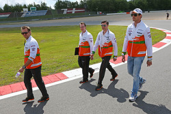 Adrian Sutil, Sahara Force India F1, anda na pista