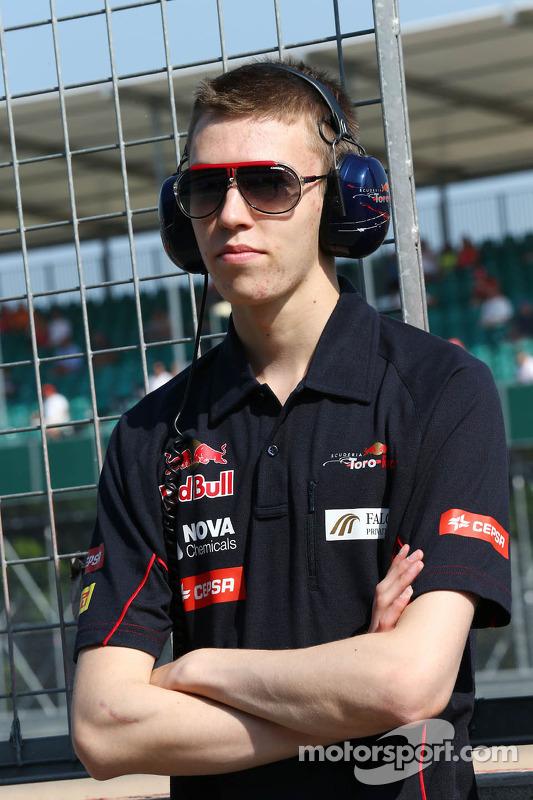 Daniil Kvyat, Scuderia Toro Rosso, piloto de testes