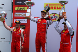 Trofeo Pirelli podium: winner Onofrio Triarsi, second place Damon Ockey, third place Alfred Caiola