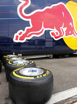 Pirelli tyres for the Red Bull Racing team