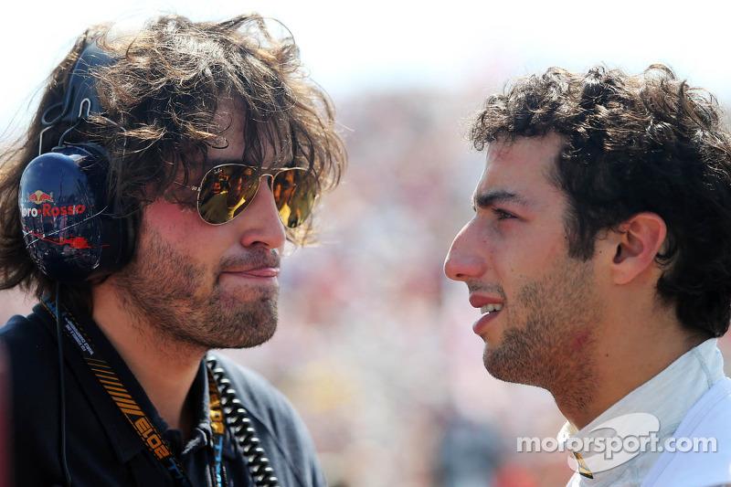 Daniel Ricciardo, Scuderia Toro Rosso op de grid