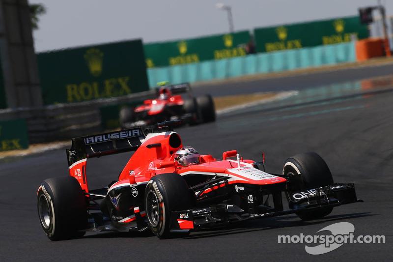 Jules Bianchi, Marussia F1 Team MR02 leads team mate Max Chilton, Marussia F1 Team MR02