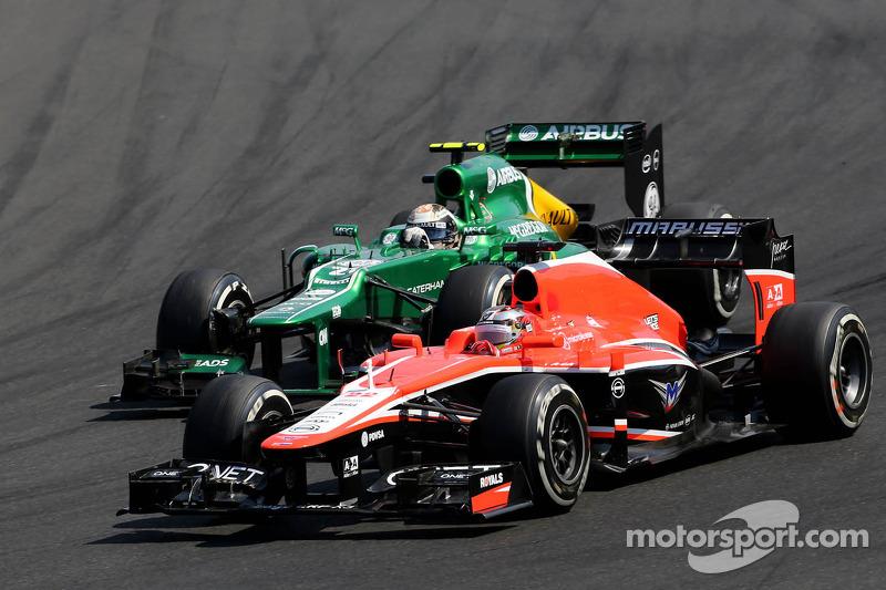 Jules Bianchi, Marussia Formula One Team  and Giedo van der Garde, Caterham F1 Team