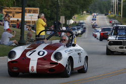 Race Cars parade into Elkhart Lake for the Friday Concours. #70  1961  Porsche 356B: Vic Sirmants