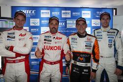 Coletiva: Chevrolet Cruze 1.6T, RML pole position, Norbert Michelisz, Honda Civic, Zengo Motorsport  e Alex MacDowall, Chevrolet Cruze 1.6T, bamboo-Engenharia