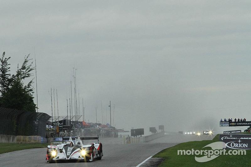 Grote voorsprong voor #6 Muscle Milk Pickett Racing HPD ARX-03a Honda: Lucas Luhr, Klaus Graf