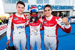 Keagan Masters, Philip Ellis, Mikel Azcona, podium Rennen 1
