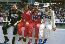 1986 WK-kandidaten, Ayrton Senna, Lotus, Alain Prost, McLaren, Nigel Mansell, Williams, Nelson PIquet, Williams