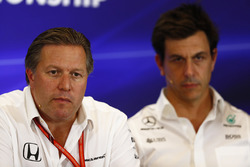 Zak Brown, Executive Director, McLaren Technology Group and Toto Wolff, Executive Director Mercedes AMG F1, in the Team Principals Press Conference