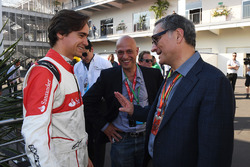 Esteban Gutierrez, Alejandro Soberon, President and CEO for CIE Group and President of Formula 1 Gran Premio de Mexico