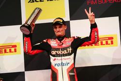 Podium: tweede plaats Chaz Davies, Ducati Team
