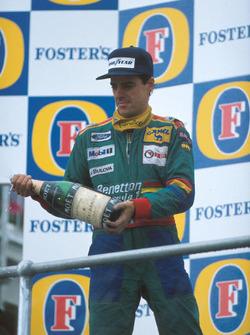 Podio: segundo lugar Alessandro Nannini, Benetton