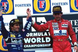Подіум: Ален Прост, Williams, Айртон Сенна, McLaren