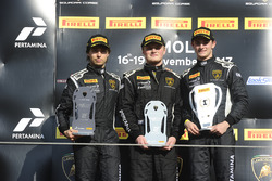 Podium NA-Pro-AM: first place Austin Versteeg, Change Racing, second place Edoardo Piscopo, Taylor Proto, US RaceTronics