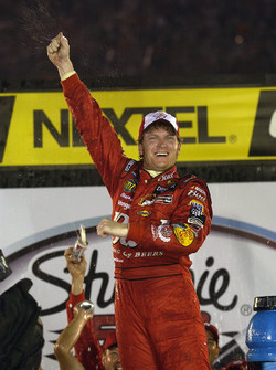 Race winner Dale Earnhardt Jr.