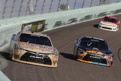 Matt Tifft, Joe Gibbs Racing Toyota and Corey Lajoie, JGL Racing Toyota