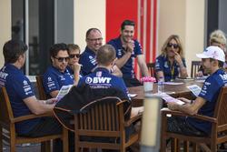 Sergio Perez, Sahara Force India and Esteban Ocon, Sahara Force India F1 team meeting