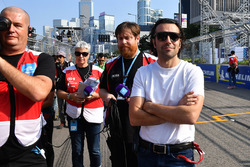 TV Pundit Dario Franchitti on the grid