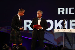 Chase Carey, Chairman, Formula One, and David Coulthard on stage
