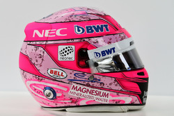 Il casco di Esteban Ocon, Sahara Force India F1 Team