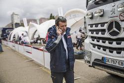 Bruno famin team principal of Peugeot Sport at the bivouac